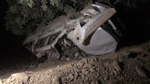 Saldırının düzenlendiği köylüleri taşıyan araç