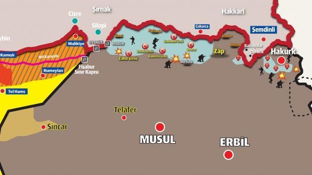 Pençe-3 Harekâtı'nın kapsamı 60 km daha derine iniyor.