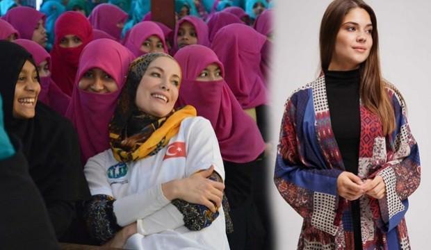 Gamze Özçelik'in stili 2019 sonbahar tesettür modasında