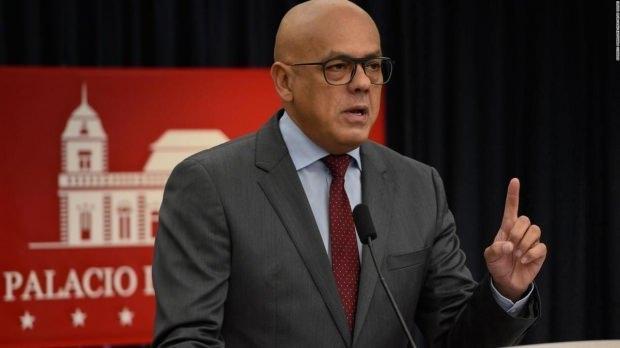 Venezuela İletişim, Turizm ve Kültürden Sorumlu Devlet Başkan Yardımcısı Jorge Rodriguez...