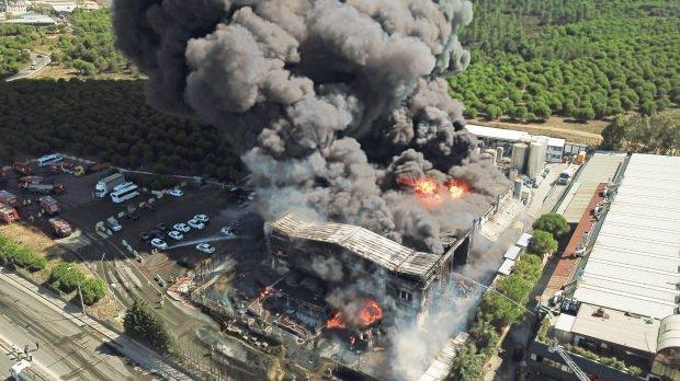 Tuzla'da yakılan fabrika