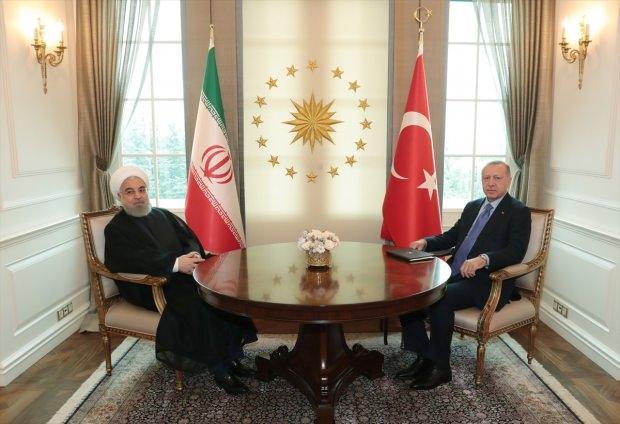 Erdoğan ve Ruhani görüşmesinden bir kare