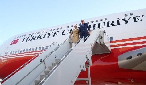 Cumhurbaşkanı Erdoğan'ın uçağı New York'a indi!