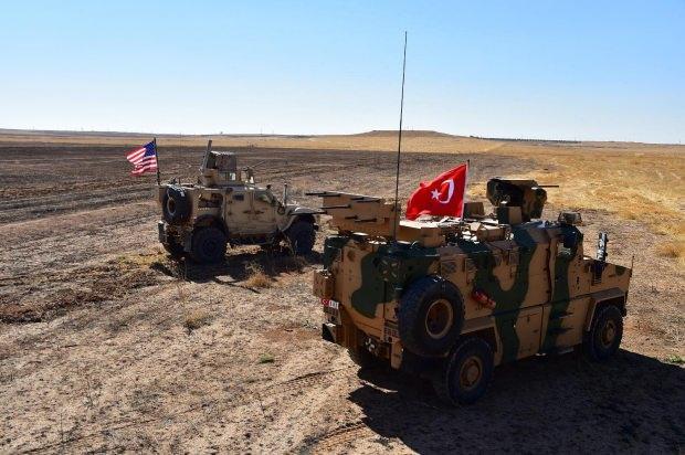 Türkiye ile ABD arasında devam eden devriyeden bir görüntü...