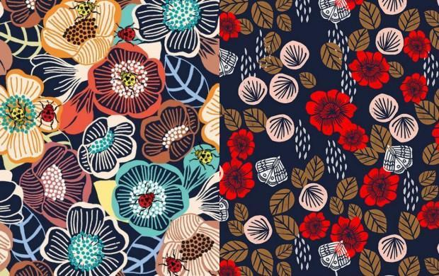 çiçek desenli kumaşlar