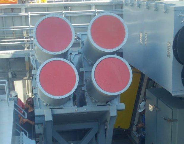 TCG Kınalıada ile milli olarak geliştirilen Advent Savaş Yönetim Sistemi ve Türkiye'nin ilk deniz füzesi Atmaca da kullanılmaya başlanacak.