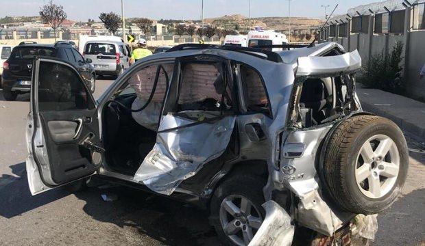 Başkentte feci kaza: 2 yaralı