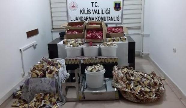 Kilis'te kaçak nargile tütünü ele geçirildi