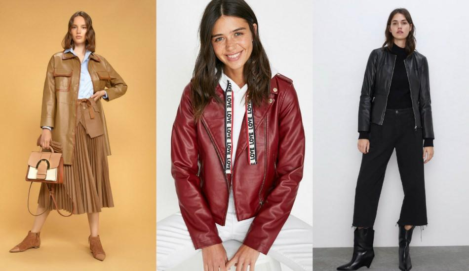 2019 sonbahar deri ceket modelleri
