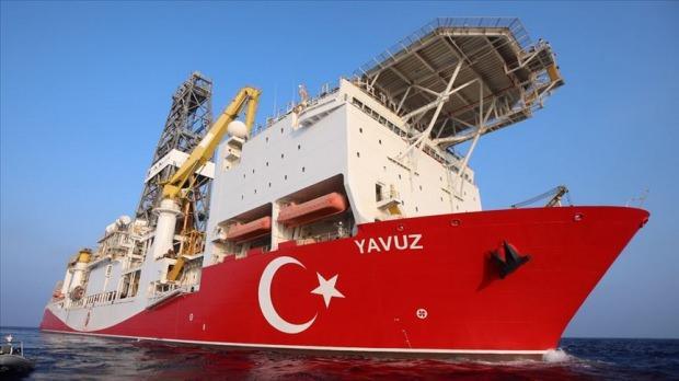 Akdeniz'de görevine devam eden Yavuz Sondaj gemisi