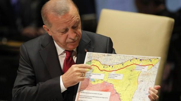 Erdoğan'ın BM'deki konuşmasından bir kare...
