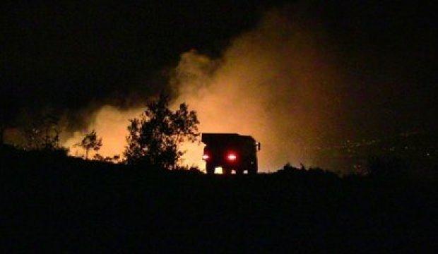 Hatay'da zeytinlik alanda korkutan yangın