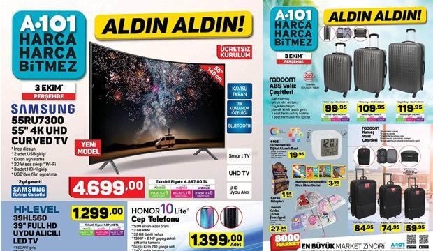A101 aktüel ürün kataloğu: 3 Ekim Bugün küçük ev aletlerinde kampanya...