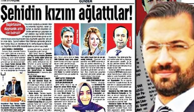 Şehit kızını savunan gazeteci ve gazetesine ceza verildi!