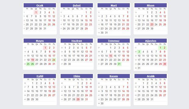 2020 Resmi tatil günleri: Önümüzdeki sene toplamda kaç gün tatil yapılacak?