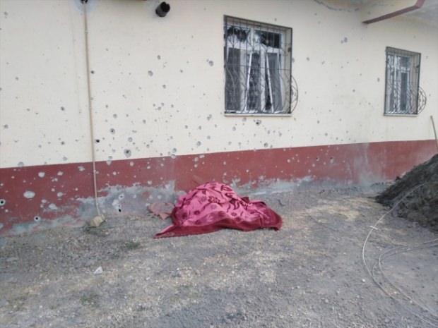 Terör örgütü YPG'nin saldırısı sonucu şehit olan sivil vatandaşın görüntüsü