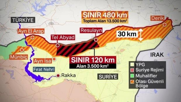 Güvenli bölge (Harita: NTV)