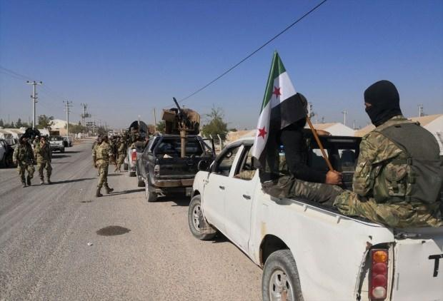 Suriye Milli Ordusu bölgeye girdi....