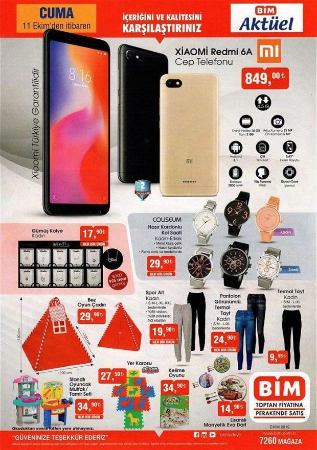 BİM Xiaomi Redmi 6A Cep telefonu