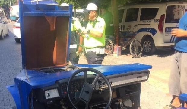 Yok böyle araç! Polisler görünce şaşkına döndü