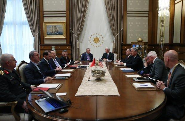 Türkiye-ABD görüşmesinden bir kare...