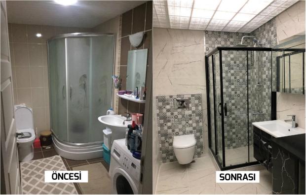 sinartiçmimarlık banyo yeniliği