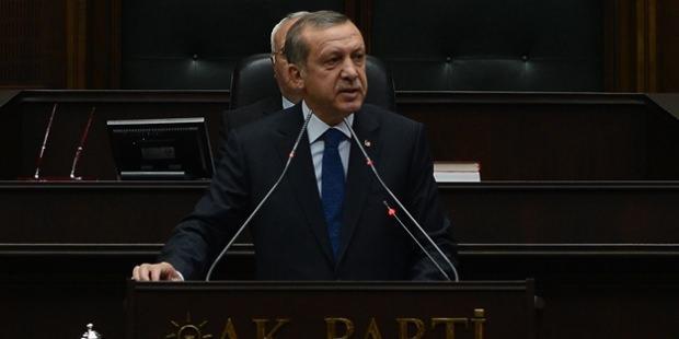 Başkan Erdoğan'ın konuşma yaptığı anlardan bir kare
