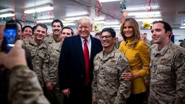 Trump 26 Aralık 2018'de Irak'taki askerleri ziyaret etmişti...
