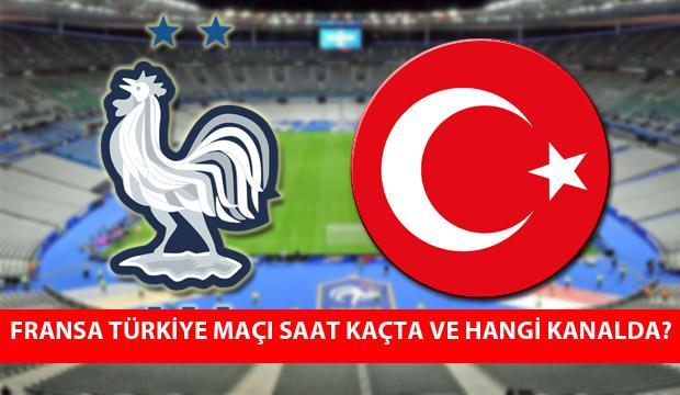 Fransa Türkiye maçı saat kaçta? Maç hangi kanalda yayınlanacak?