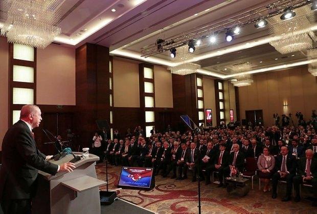Erdoğan'ın konuşmasından bir kare