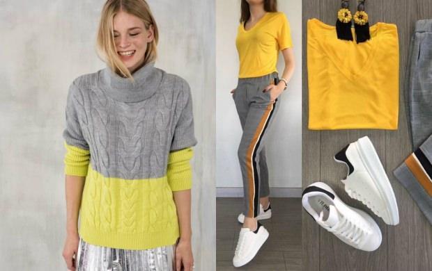 gri ile uyumlu renkler kıyafet