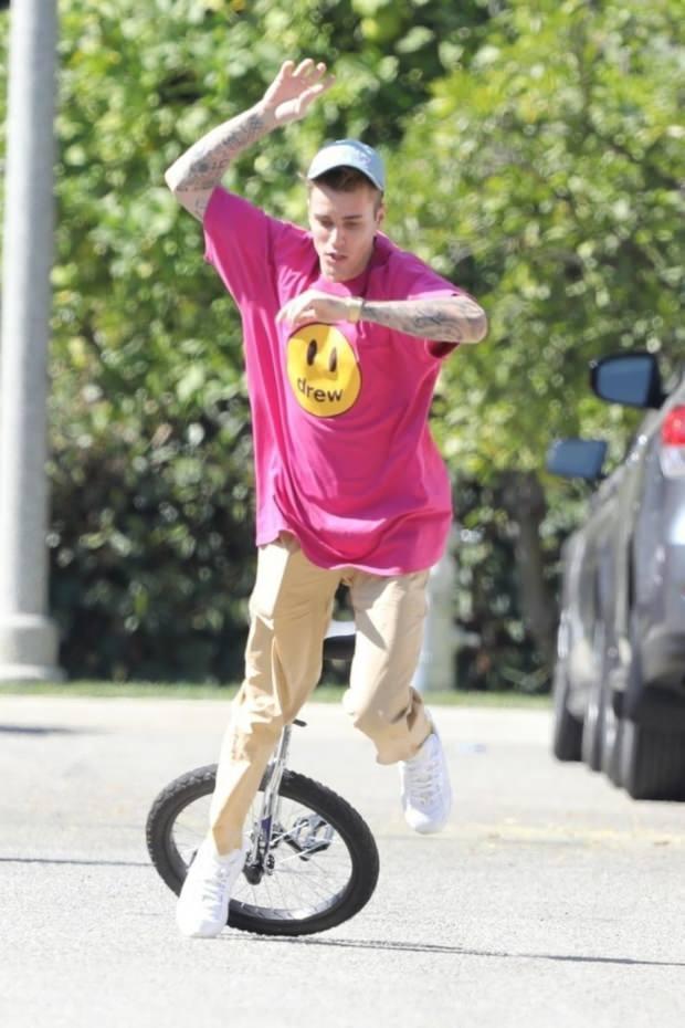 Justin Bieber bisiklet kazası