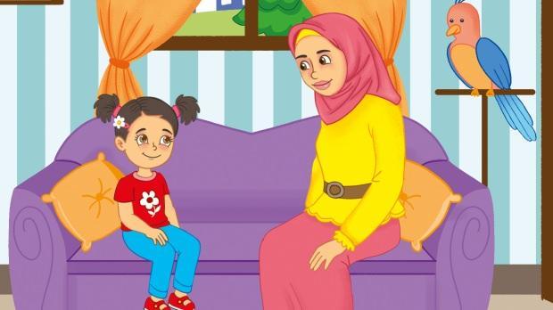 Meraklı çocuk ile annesi