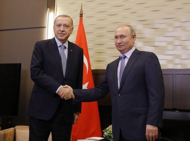 Erdoğan ve Putin görüşmesinden ilk kare