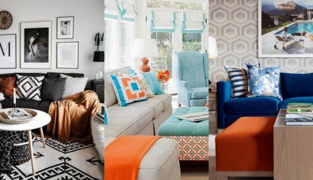 turuncu ev dekorasyonu fikirleri