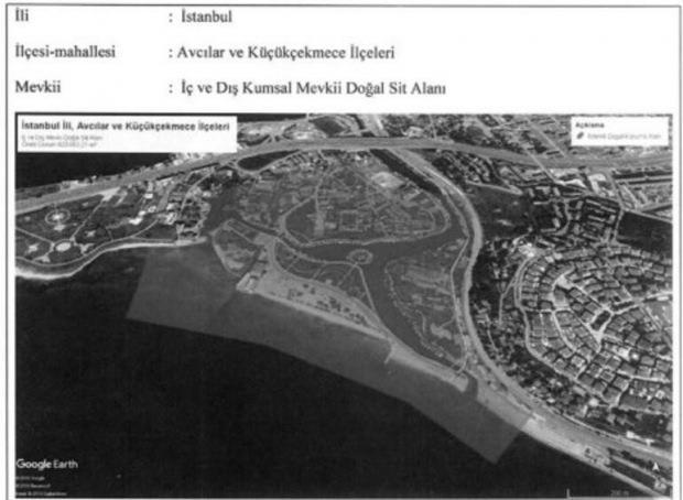 İşte Sit Alanı ilan edilen bölge