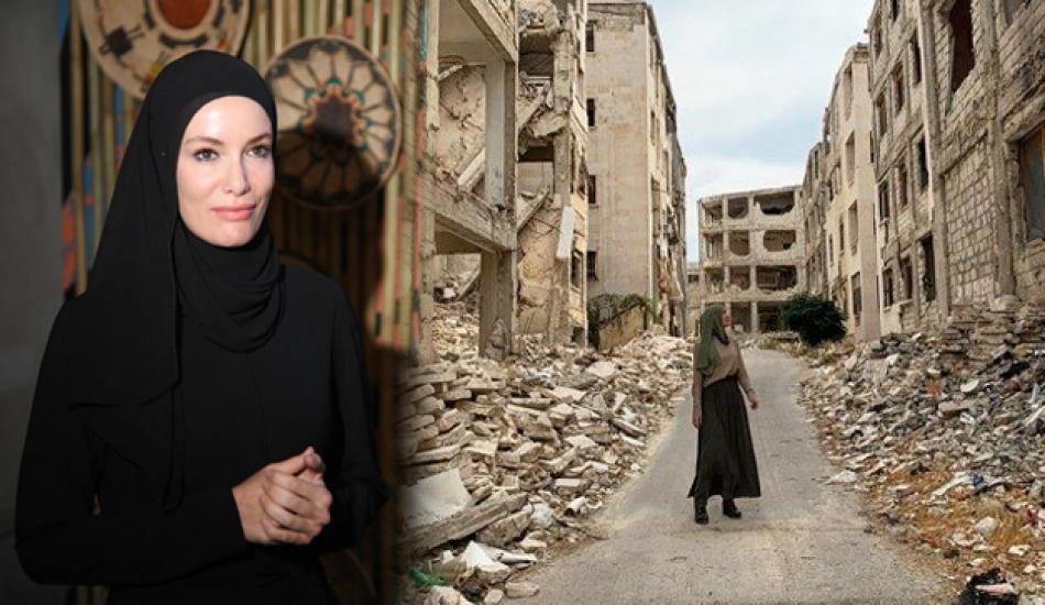 Gamze Özçelik Halep'te! Herkesi ağlatan paylaşım...
