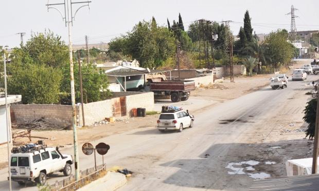 PKK'lı teröristlerin bölgeden çekilme görüntüleri.