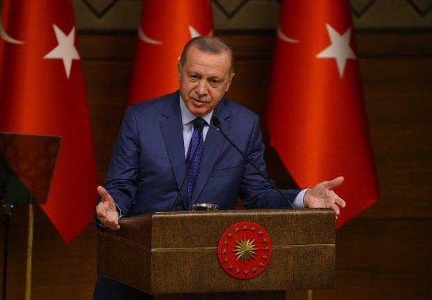 Son dakika- Cumhurbaşkanı Erdoğan'ın konuşma yaptığı anlardan bir kare