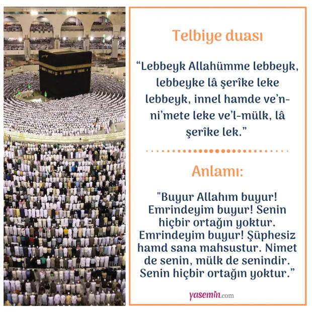 Telbiye duası arapça ve türkçe