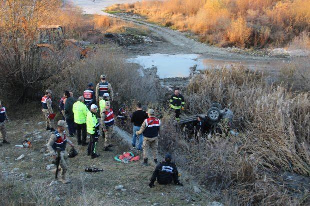 Erzurum'daki kazadan görüntü