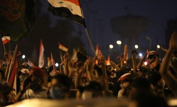Irak'ın Bağdat şehrindeki protestolar
