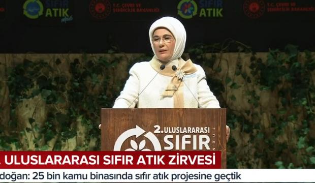 Emine Erdoğan 2. Uluslararası Sıfır Atık Zirvesi'nde konuştu!