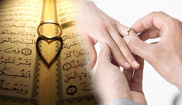 Kuran'da evlenmek için okunacak dualar! Diyanet sevdiğiyle hayırlı evlilik duası