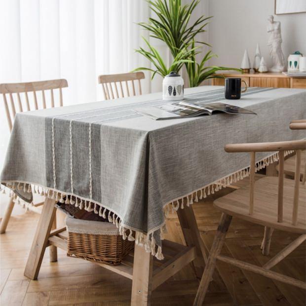 keten tasarımı masa örtüsü
