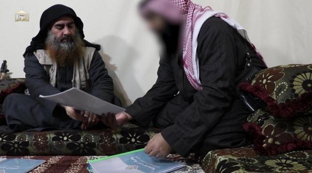 Bağdadi'nin son yayınlanan video kaydından bir görüntü...