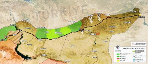 Bölgedeki son durum... (Harita: Suriye Gündemi)