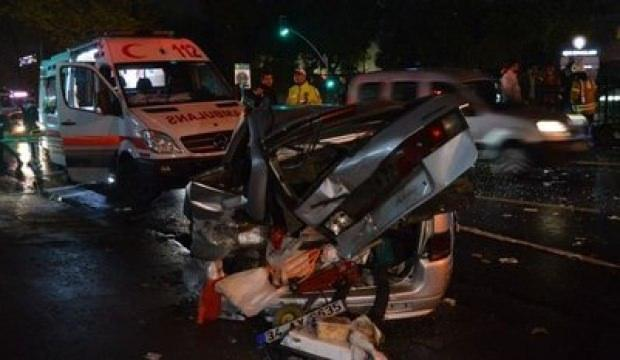 Sarıyer'de trafik kazası! 8 yaralı