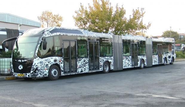Yeni metrobüs test ediliyor