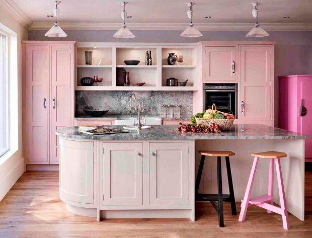 pembe mutfak dekorasyonu